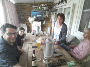 Irene & Frank mit Gästen
